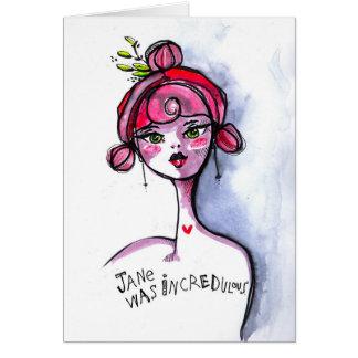 Cartão Jane incrédulo