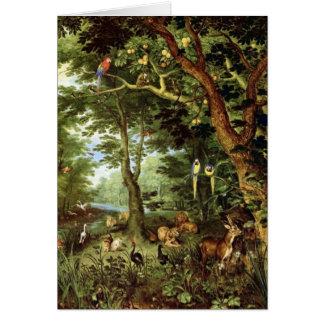 Cartão Janeiro Bruegel a pessoa idosa - paraíso