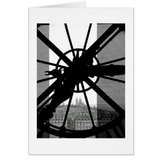 Cartão Janela com o tempo