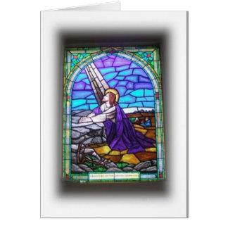 Cartão Janela de vitral Notecard
