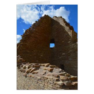 Cartão Janela do canto da garganta de Chaco