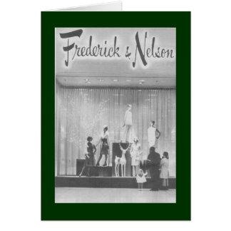 Cartão Janela do Natal de Frederick & de Nelson