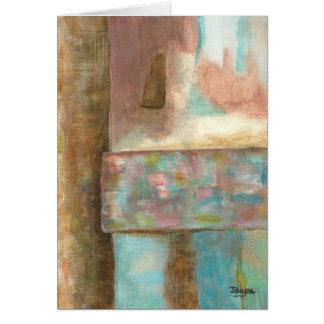 Cartão Janela Pastel do castelo da fantasia da pintura da