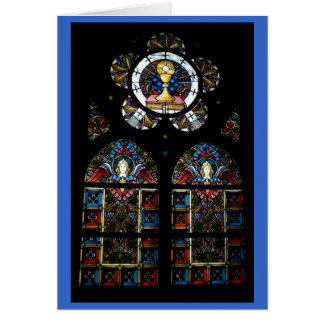 Cartão Janelas de vitral abençoado do sacramento e do