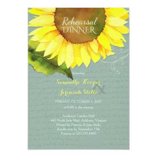 Cartão Jantar de ensaio esmaecida do casamento do