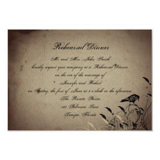 Cartão Jantar de ensaio gótico do casamento da casa do