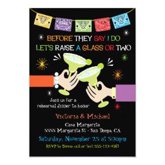 Cartão Jantar de ensaio mexicano da festa