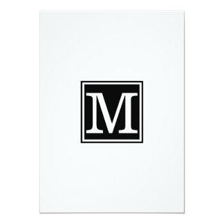 Cartão Jantar de ensaio simples do monograma
