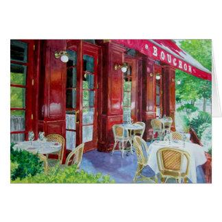 Cartão Jantar exterior de Bouchon, Bouchon Outsid…
