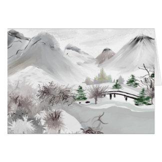 Cartão japonês da arte dos haicais