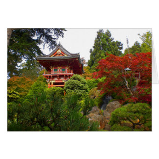 Cartão japonês da porta #3 do templo do jardim de
