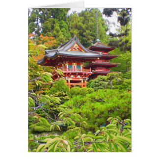 Cartão japonês do jardim de chá #7 de San