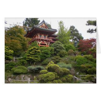 Cartão japonês do jardim de chá de San Francisco