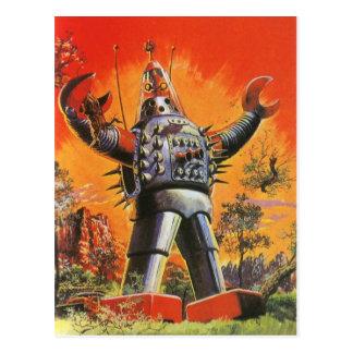 Cartão japonês do robô do vintage de Hari Hari