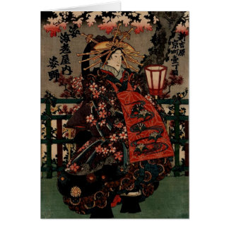 Cartão japonês Incredibly bonito da arte do