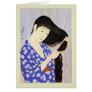 Cartão Japonês Woodblock