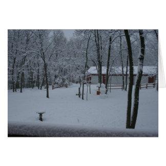 Cartão Jarda coberto de neve