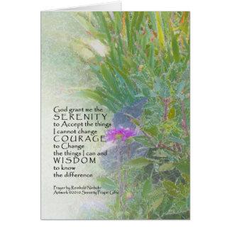 Cartão Jardim 12 do fim do verão da oração da serenidade
