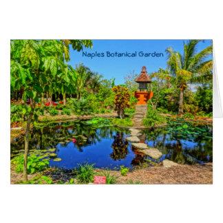 Cartão Jardim asiático - jardim botânico Nápoles de