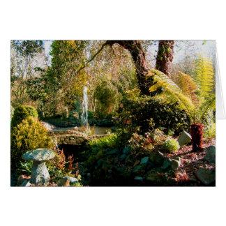 Cartão Jardim calmo em Guernsey 1