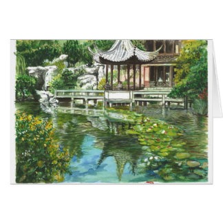 Cartão Jardim chinês em Portland