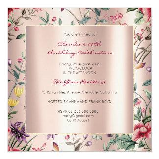 Cartão Jardim cor-de-rosa do Chinoiserie da borboleta