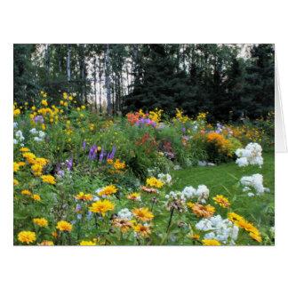 Cartão Jardim da barraca do fim do verão
