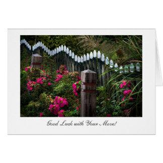 Cartão Jardim da borda da estrada de Marken - boa sorte