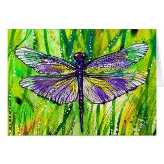 Cartão Jardim da libélula