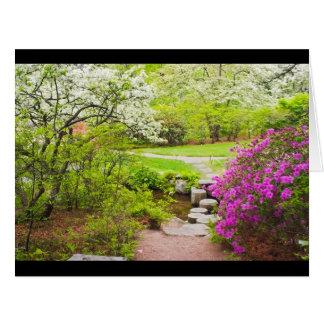 Cartão Jardim de Asticou Azelea no primavera, porto do