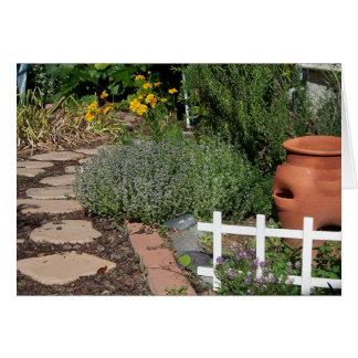 Cartão Jardim de erva