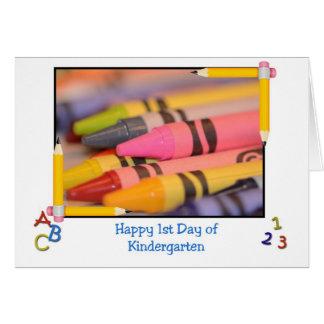 Cartão Jardim de infância, ø dia