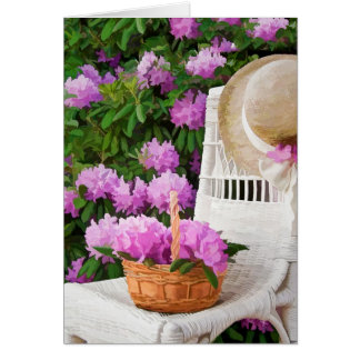 Cartão Jardim do dia das mães