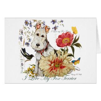 Cartão Jardim do Fox Terrier