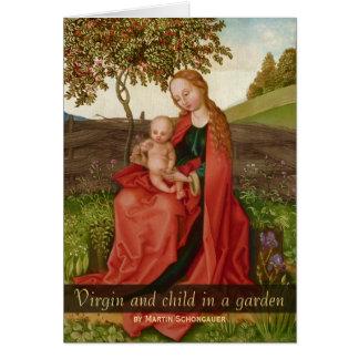 Cartão Jardim do Virgin e da criança de Martin Schongauer