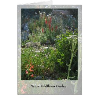Cartão Jardim do Wildflower - Notecard nativo