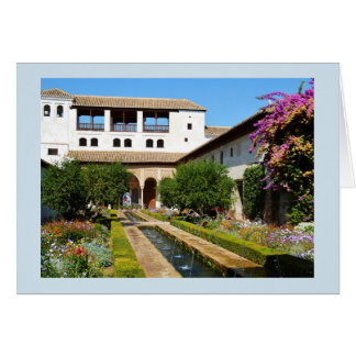 Cartão Jardim em Alhambra