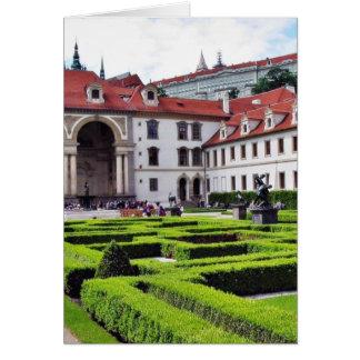 Cartão Jardim em Praga
