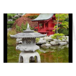 Cartão Jardim oriental