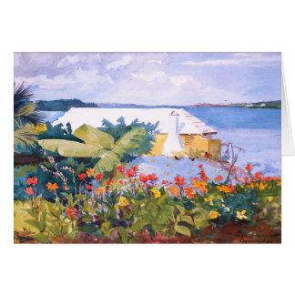 Cartão Jardim por Winslow Homer