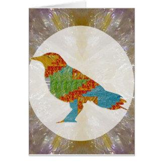 Cartão Jardim zoológico selvagem do pássaro do corvo do