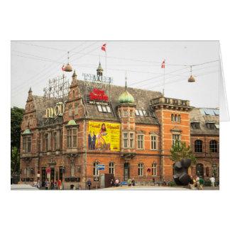 Cartão Jardins Copenhaga Dinamarca de Tivoli