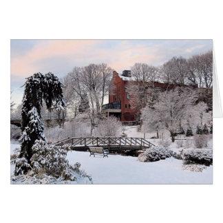 Cartão Jardins de Brewster no inverno