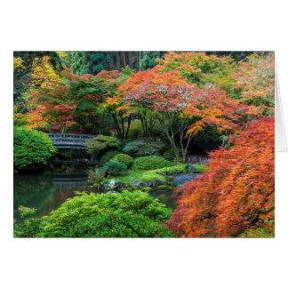 Cartão Jardins japoneses no outono em Portland, Oregon 3