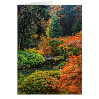 Cartão Jardins japoneses no outono em Portland, Oregon 5