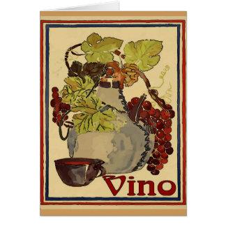 Cartão Jarro de Vino vermelho