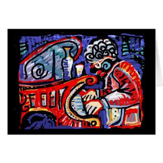 Cartão ** Jazz colorido **