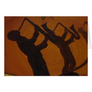 Cartão Jazz da arte de Brown Saxiphone
