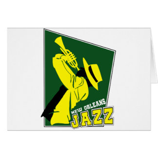 Cartão jazz new orleans