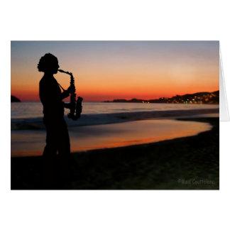 Cartão Jazz pelo por do sol
